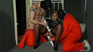Rough maledom play for the amazing blonde whore