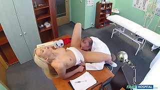 Lucy Shine gets her pussy banged by her handsome doctor in his room