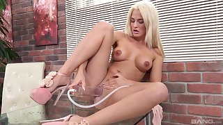 Sex toys can please the sexual desires of horny blonde Nicole Vice