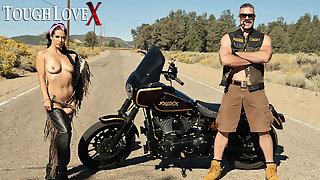TOUGHLOVEX Big tit beauty Katrina Jade fucked outdoors