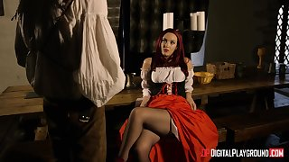 Sexy brunette Olive Glass in stockings loves to be fucked doggystyle