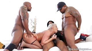 The big ass mature loads her tiny holes with fresh BBC