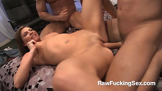 Raw Fucking Sex - Horny Victoria Lawson Enjoys Two Cocks