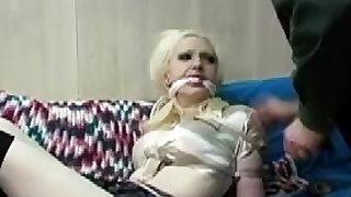 BDSM with clothing pins for my slut Esther