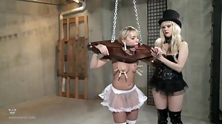 Strong BDSM femdom with clamping and rough ass fucking