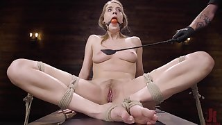 Small tits blondie Cadence Lux gets her pussy fucked on the table