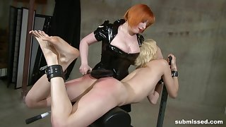 Biddable blonde Ava fully submits to powerful Mistress Irony