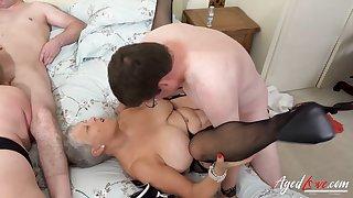 AgedLovE Two Matures Enjoying Hard Fast Fuck