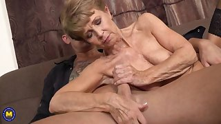 Strong Boy Fucks Granny