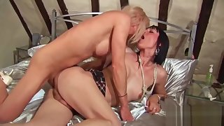 Shemales jo Jet and Jennifer English rimjobs and anal