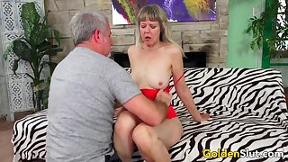 Hot Mature Sex with Granny Jamie Foster